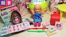 КАТЯ ПОМЕНЯЛА РЮКЗАК НА КИНДЕР ЛОЛ! ЛОЛОМАНИЯ Катя и Макс веселая семейка мультики куклы Барби