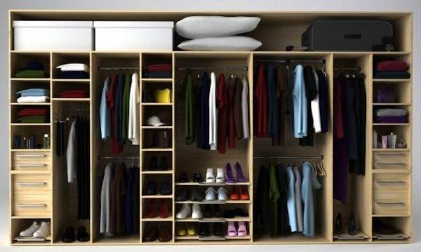Какой должна быть глубина шкафа?