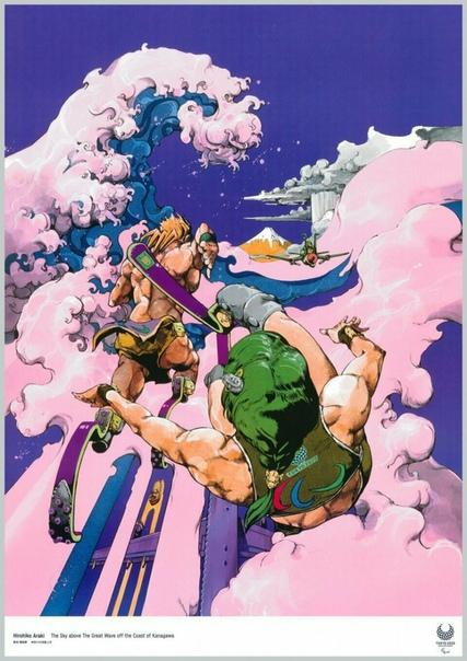 Официальный арт-постер грядущих Паралимпийских игр в Токио