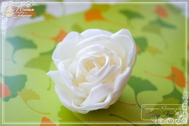 МК: Роза из ткани (9 фото)