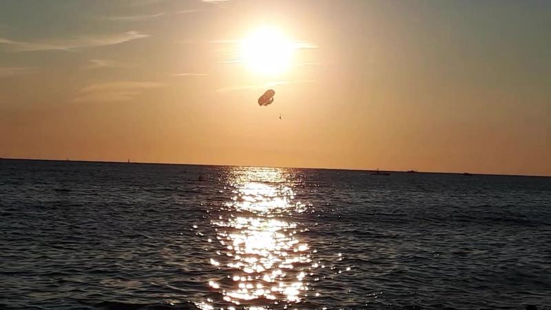 Закат на черноморском побережье