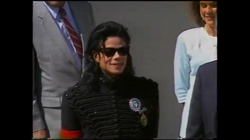Michael Jackson Artist Of The Decade George Bush Sr April 1990 Washington D C