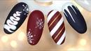 4 EASY WINTER NAIL IDEAS NAIL ART 4 łatwe świąteczne pomysły na paznokcie