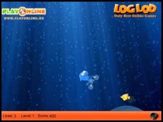 Игра: Акула На Мотоцикле 2 (Game: At shark bike 2)