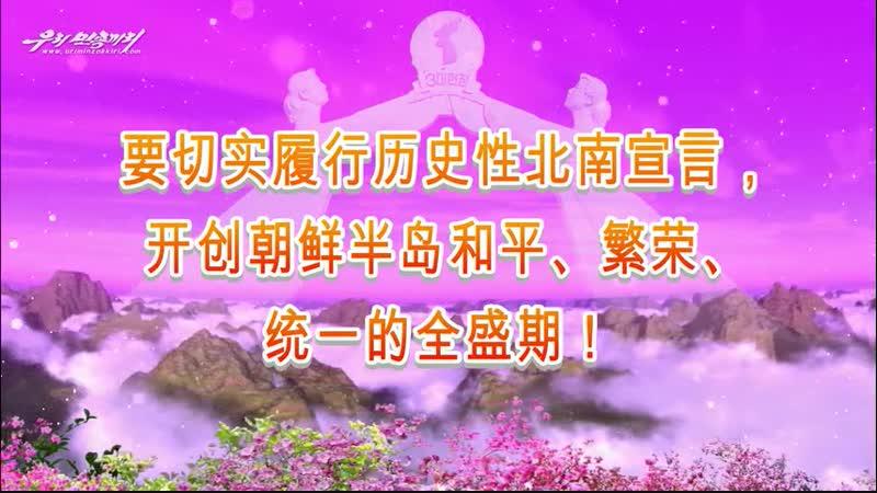 要切实履行历史性北南宣言,开创朝鲜半岛和平、繁荣、统一的全盛期!