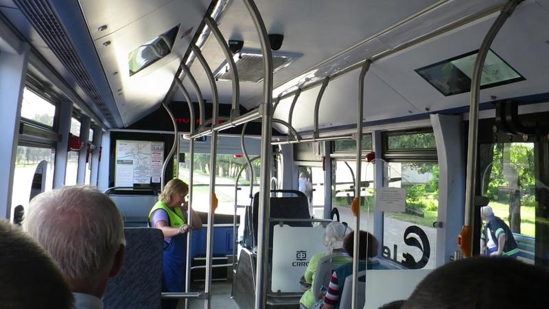 Поездка на Электробусе в Могилёве