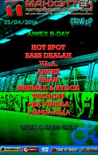 25.04  AIWEX B-DAY PRTY @MANHATTAN