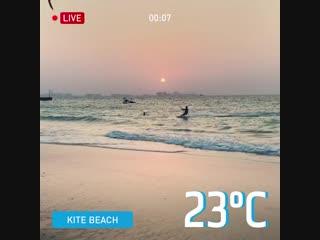 Самый спортивный пляж в дубае - kite beach