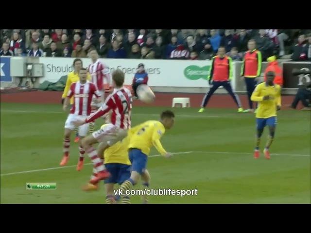 Сток Сити 1 0 Арсенал Обзор матча HD