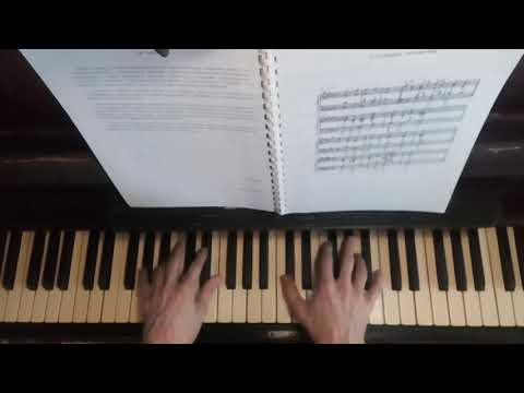 Harmonical solfeggio lesson tutorial Rusyaieva 5 example on Basic triads sung played shown