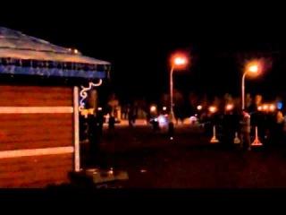 Відео початку нічної атаки у Харкові, коли 'організм' на джипі намагався задавити людей