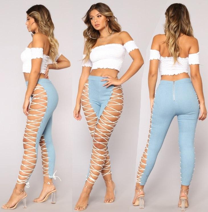 Оригинальные джинсы на шнуровке Wild Thang Lace Up от Fashion Nova