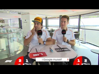 McLaren's Fernando Alonso and Stoffel Vandoorne | Grill the Grid: Truth or Lie?