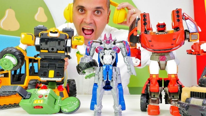 Transformers oyuncakları. Robot videosu. Optimus Prime ve Şenol robot arıyorlar!