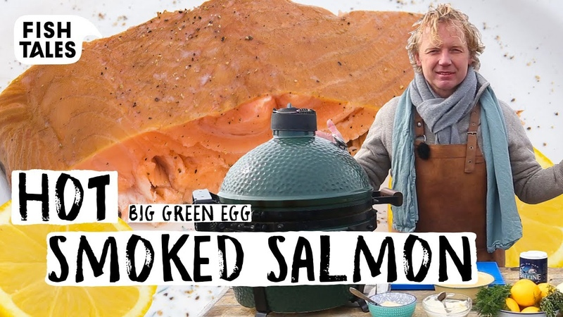 How To Hot Smoke SALMON on a Big Green Egg BBQ | Bart van Olphen