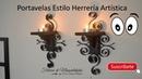 Portavelas estilo Herrería Artística DIY Artistic blacksmith style candle holder