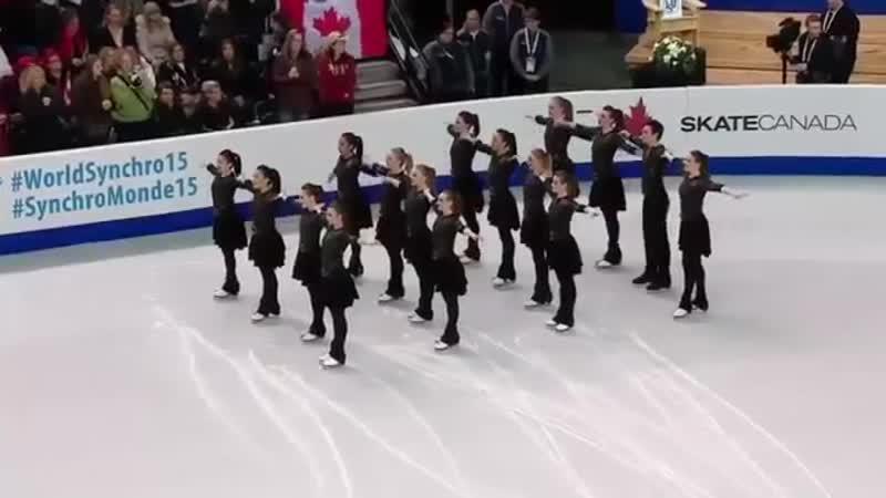 2015 World Synchro Champs SP Team Canada