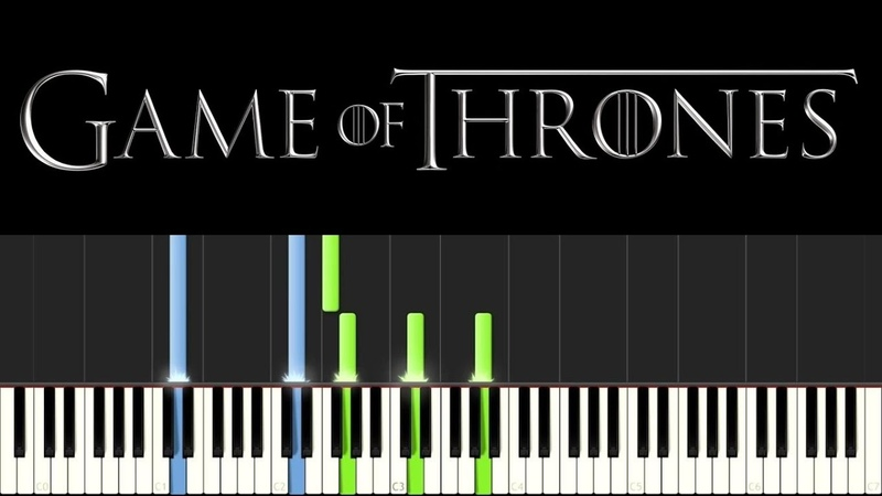 Game of Thrones - The Rains of Castamere (Piano Tutorial - Synthesia) [ sheets]