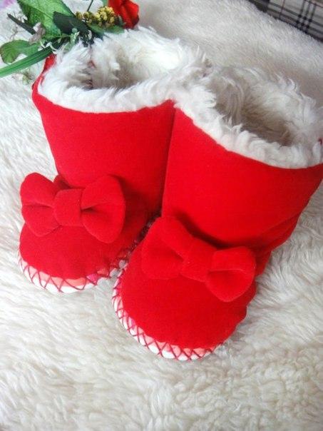 Шьем пинетки ботиночки (3 фото) - картинка