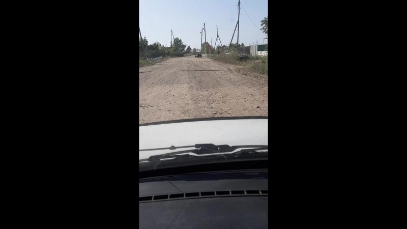 Отсыпка дороги строительным мусором часть 2