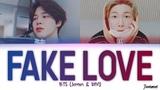 BTS (RM &amp JIMIN) - 'FAKE LOVE ORIGINAL DEMO VER.' Lyrics (Color Coded EspHanEng
