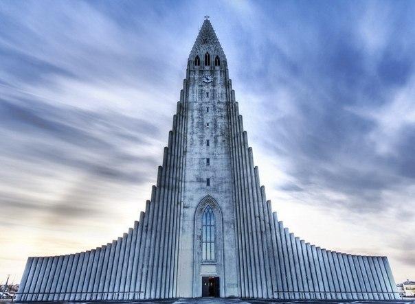 Лютеранская церковь в Рейкьявике, Исландия