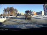 Нарушение проезда перекрестка + ПП - Снежинск 26 января 2014