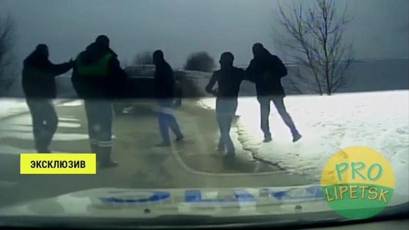 Нападение на инспектора ДПС в Липецкой области