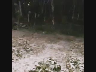 Первый снег в Колпашево
