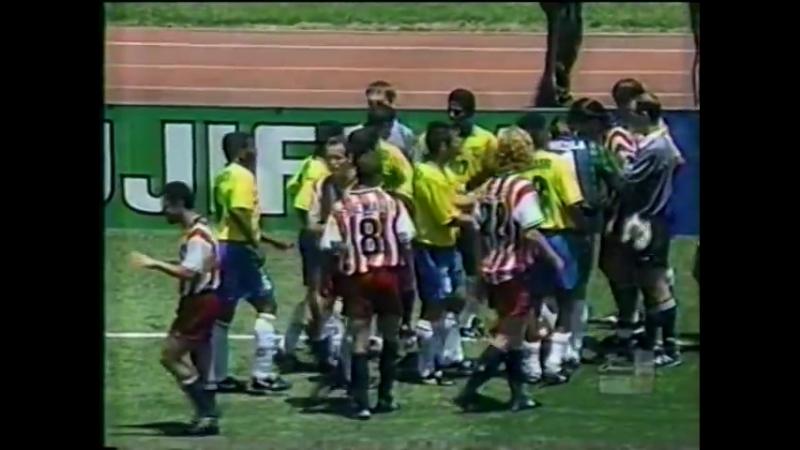 Expulsión de Leonardo, Mundial 1994, Brasil Estados Unidos narra Lázaro Candal