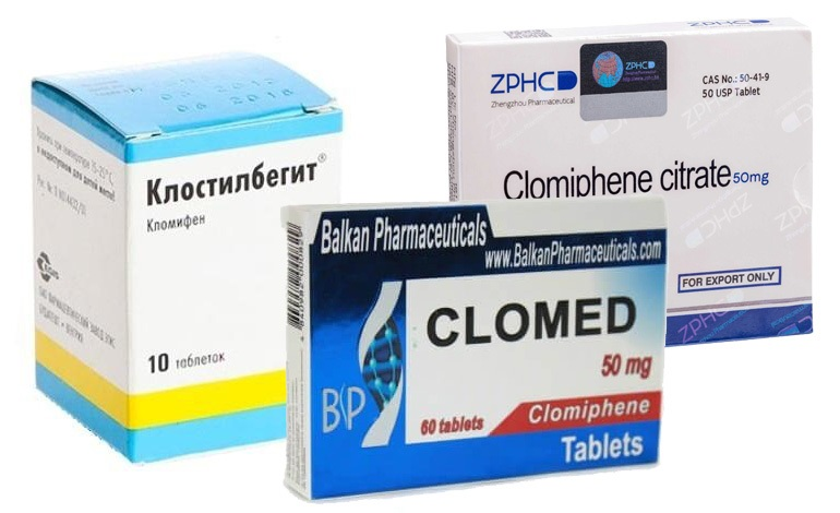 Препарат Кломид для стимуляции овуляции при бесплодии.