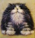 Мк по живописи шерстью. Кот по мотивам картин Ким Хаскинс.