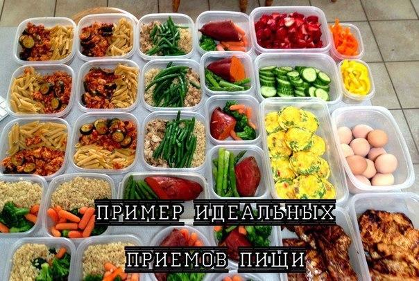 Пример идеальных приемов пищи