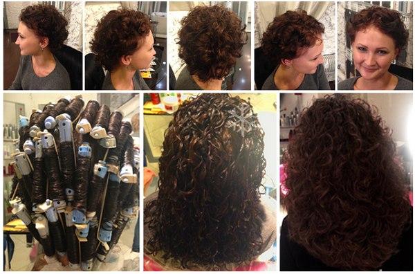 химия для волос до и после фото
