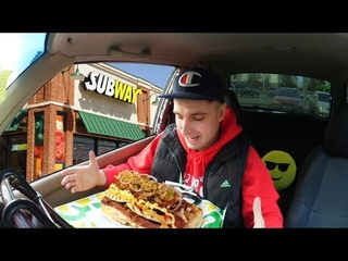 Самый большой сэндвич Subway за 1660 руб??? Все топпинги Сабвей в один саб! Обзор еды