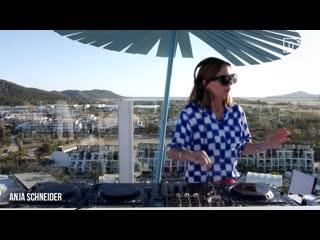 Anja schneider sunset tech-house dj set from dj mag hq ibiza