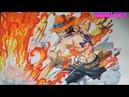 Cách vẽ tranh hỏa quyền Ace how to draw Portgas D Ace One Piece