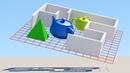 Пользовательская размерная сетка Построение объектов под углом
