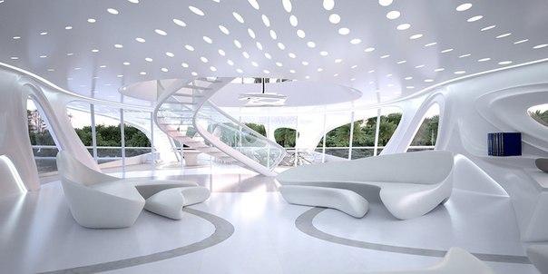 Потрясающий проект супер-яхты с органическим дизайном от гуру дизайна