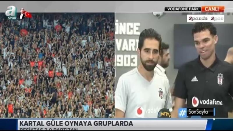 """Beşiktaş - Partizan 3-0 Maç Sonu """" Pepe """" Açıklamaları"""