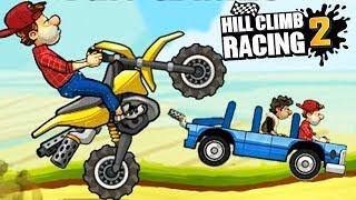 Hill Climb Racing 2 Игра как мультик про тачки, для детей