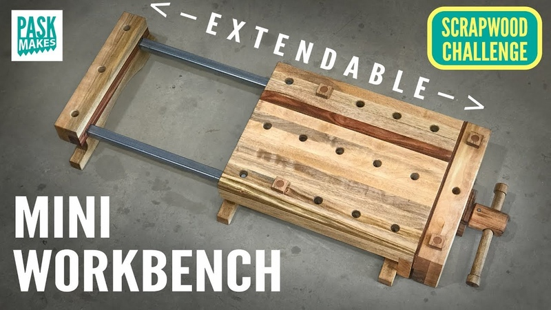 Mini Workbench (Extendable) - Scrapwood Challenge Ep18