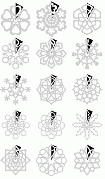 Схема снежинок из бумаги