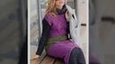 Pletena moda Теплое зимнее стильное вязаное платье 1