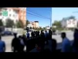 Появилось видео с места нападения боевиков на сотрудников ДПС в Грозном