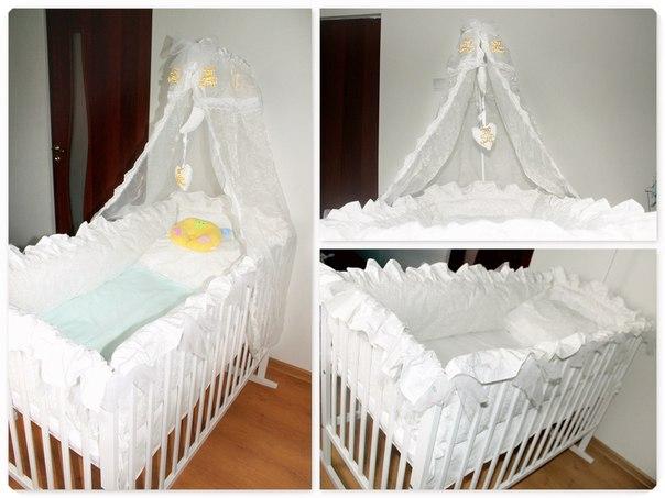 Украшаем детскую кроватку своими руками фото