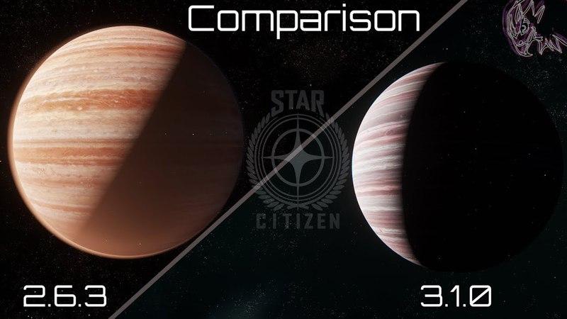 Star Citizen - Comparison 2.6.3 VS 3.1.0 (Port Olisar, Moon,..)