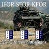 IFOR SFOR KFOR: NATO & UN forces on Balkans