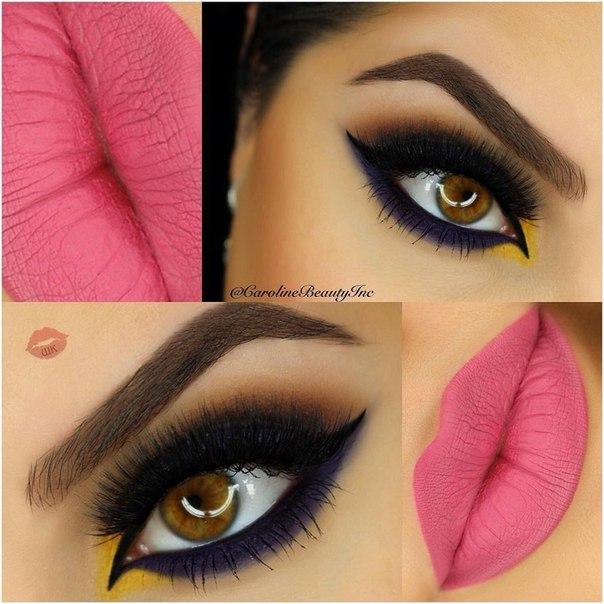 Вечерний макияж яркий макияж