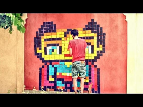Kawaii SuperMan - Post-it Note Pixel Art by Garbi KW